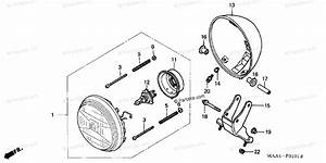 Honda Motorcycle 2002 Oem Parts Diagram For Headlight 2