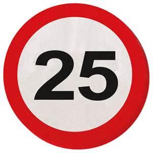 high birthday party partyartikel geburtstag 25 verkehrsschild deko jubiläum