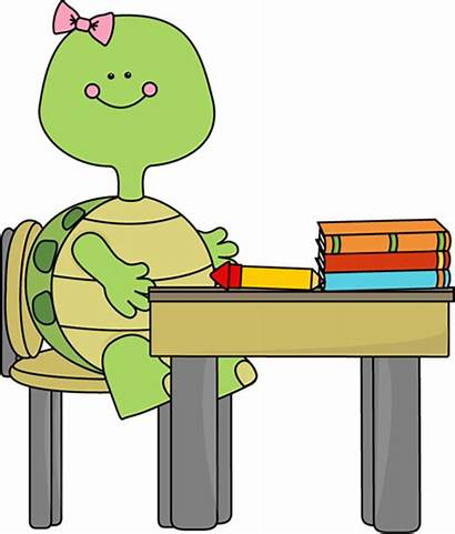 Turtle Clipart Desk Clip Sitting Cliparts Mycutegraphics