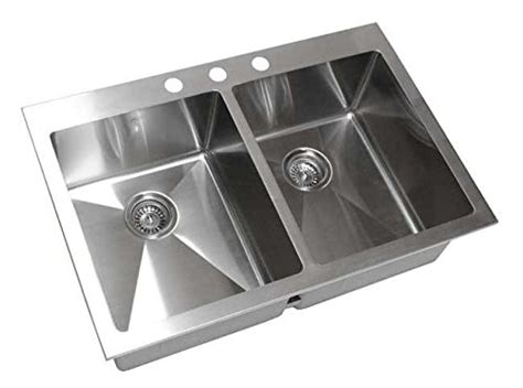 16 top mount stainless steel kitchen sinks 33 inch topmount drop in stainless steel bowl 9877
