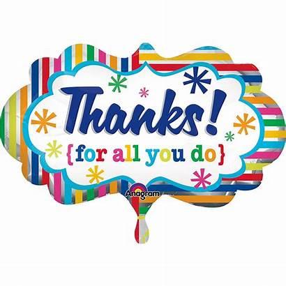 Thank Balloon Stripe Bouquet 5pc Rainbow Icon