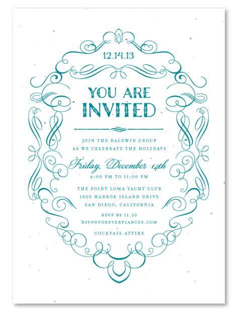 Formal Business Invitations ~ Formal Scrolls by Green