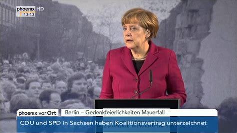 25 Jahrestag Mauerfall by Mauerfall Jubil 228 Um Angela Merkel Zum 25 Jahrestag Des