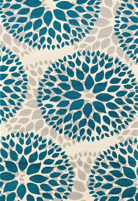 floral graygrey turquoise blue area rug modern rugs