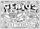Graffiti Coloring Diplomacy Genius Pages Adults Words Colouring Quotes Visit Draw sketch template