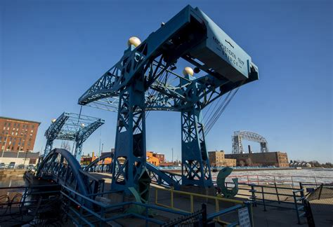 Boat Motor Repair Duluth Mn by Duluth Hopes Broken Blue Bridge Will Soon Rise To The