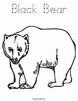 Bear Coloring California Outline Tracing Built Usa sketch template