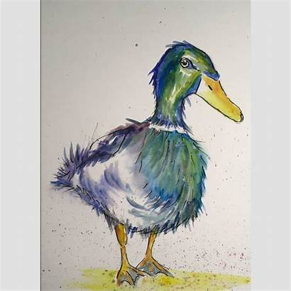 Duck Watercolour Puddle Fine Notonthehighstreet Kid