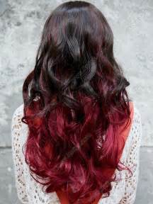 Red and Black Ombre Curly Hair