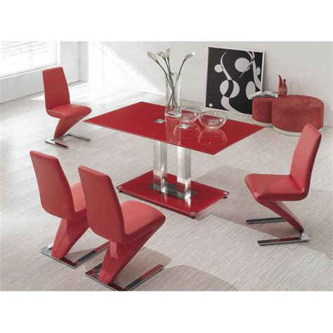 fabulous glass dining table 6 z chairs set images