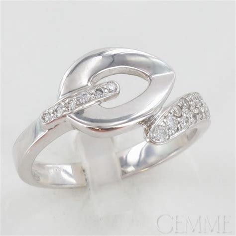 bague feuillage or blanc diamant taille moderne