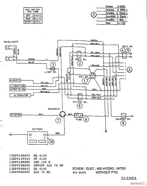 mtd riding mower wiring diagram  yard machine  mtd
