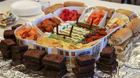 what to make for bowl sunday build a snackadium for super bowl sunday