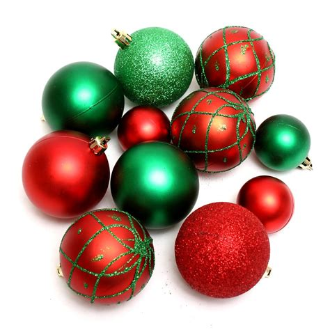 ornaments free stock photo red and green christmas ornaments isolated on a white background
