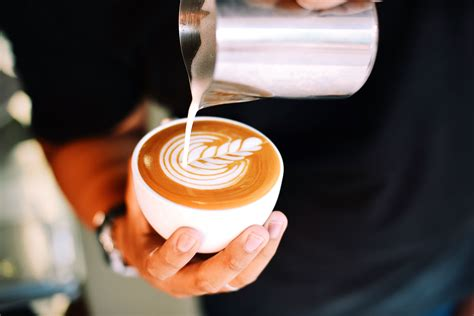 picture coffee caffeine cappuccino restaurant table beverage breakfast