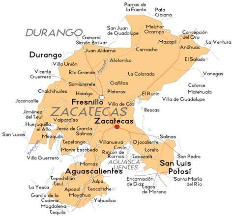 mexico map zacatecas