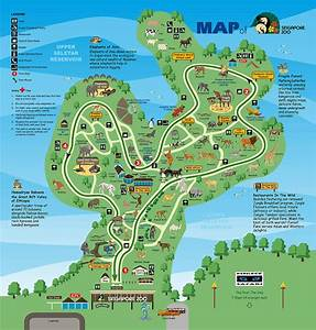 Singapore Zoo Map - Singapore Zoo 80 Mandai Lake Rd ...