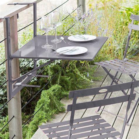 chaise pliante tablette de balcon pliante baltra ardoise hespéride 2 places