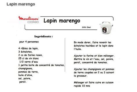 recette cuisine lapin 19 recettes cookeo lapin en fiches