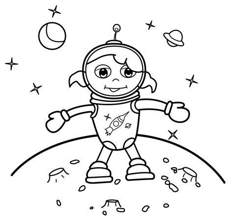 Boy Astronaut Coloring Page Murderthestout