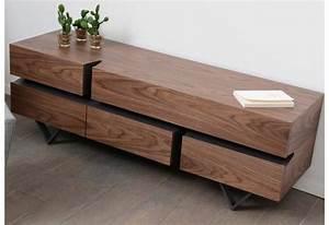 Meuble Tv Metal Bois : meuble tv moderne canyon m tal et bois amadeus am 116692 ~ Teatrodelosmanantiales.com Idées de Décoration