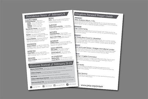 Weekly Church Bulletin Layout On Behance