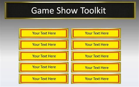 powerpoint game show show toolkit for powerpoint presentations
