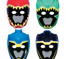 Dino Charge Power Ranger Masks to Print