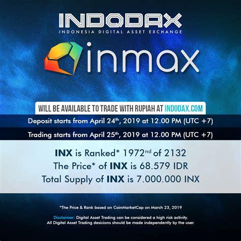 Indodax (pt indodax nasional indonesia) adalah sebuah perusahaan berbasis teknologi yang mempertemukan penjual dan pembeli aset digital terbesar di indonesia. INX Listing on Indodax - Blog Indodax.com