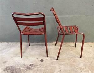 Chaise Metal Tolix : ensemble 4 chaises bistrot style tolix ~ Teatrodelosmanantiales.com Idées de Décoration