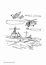 Coloring Airplane Transportation Sheets Rescue Boat Helicopter Printable Airplanes Sheet Cars Found Motor Transport sketch template