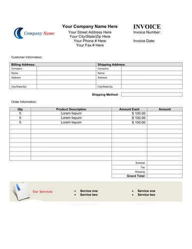 microsoft sample invoice template south peninsula hospital
