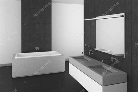 moderno cuarto de bano  suelo  azulejos gris oscuro