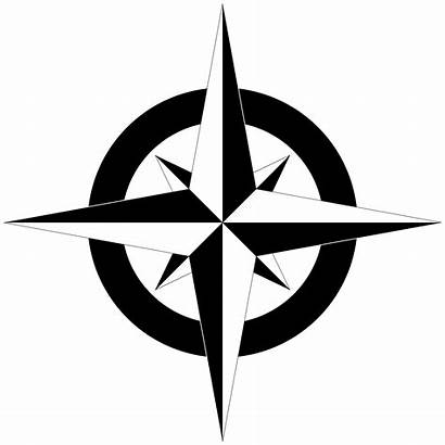 Compass Rose Simple Clip Clipart Library