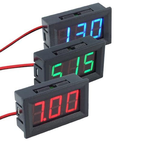 mini protable dc 4 5 30v 0 56inch led digital voltmeter two wire display voltmeter volt ammeters