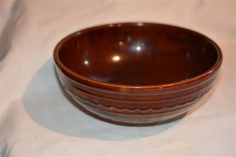 Antique Vintage Stoneware Brown Crock Mixing Bowl Pottery Living Room As Game Front 5th Wheel Models Large Fireplace Rooms To Go Groups Traditional Furniture Kcmo North End Boston Windows