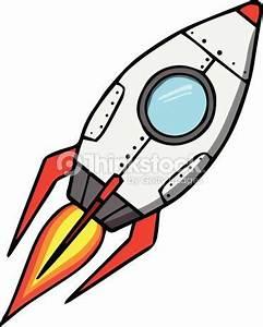 Space rocket. Cartoon vector illustration | reflections ...