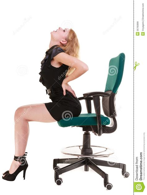 business backache back sitting on chair
