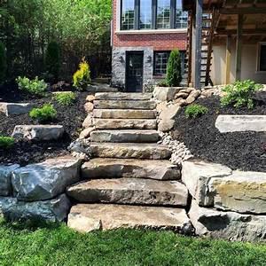 escalier de jardin a faire soi meme en 49 idees de conception With amenagement jardin avec pierres 16 fleurir un escalier