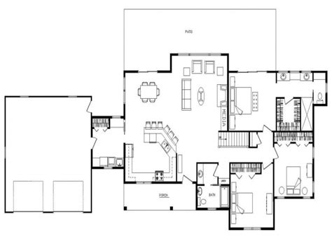 house plans open floor open floor ranch house open concept ranch floor plans log