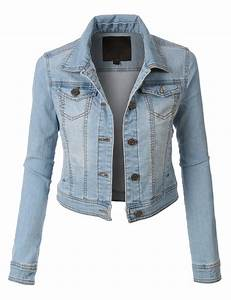LE3NO Womens Denim Jacket with Pocket | LE3NO