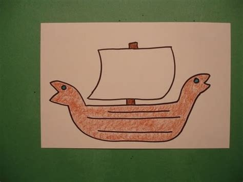 Viking Boat Drawing Easy by Let S Draw A Viking Ship