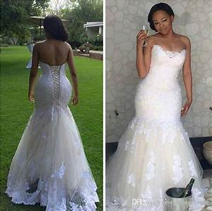 2017 lace mermaid wedding dresses for black women plus With black women wedding dresses