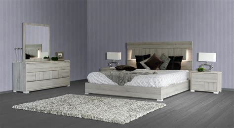 vig modrest ethan modern grey bedroom set   italy