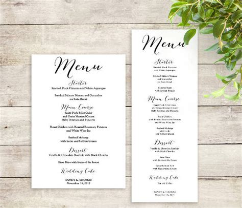 printable menu template   psd vector ai eps