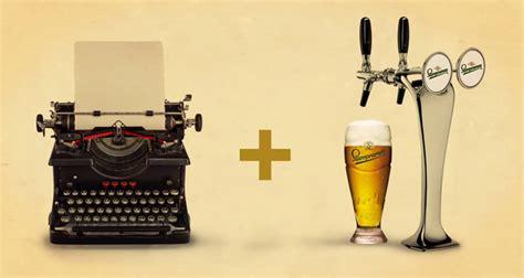 writers czech beer company creates typewriter