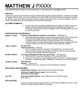 occupational health and safety resume 28 images