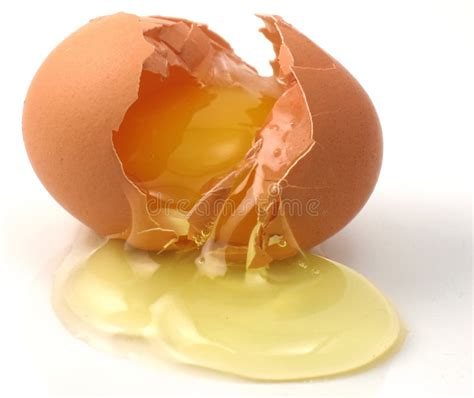 cracked egg stock image image  poulty brown drip