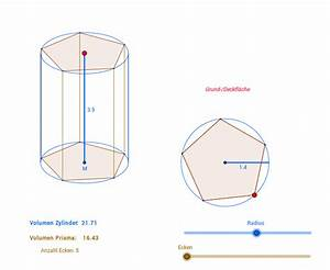 Volumen Einer Kugel Berechnen : oberflache eines zylinders wie ein prisma aus einer ~ Themetempest.com Abrechnung
