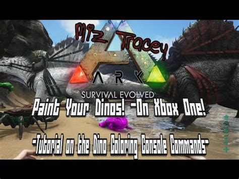 ark paint your dinos console command explained for ark survival evolved xbox one youtube